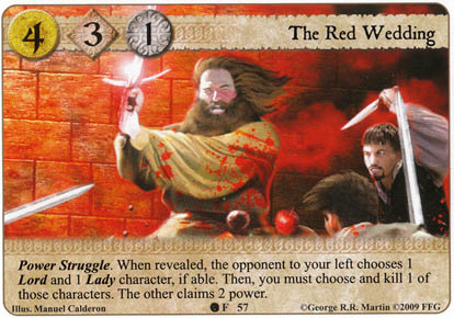 When Is The Red Wedding.The Red Wedding Princes Of The Sun Game Of Thrones Lcg