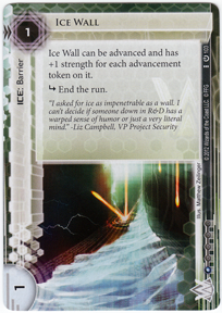 New Ice Wall Card