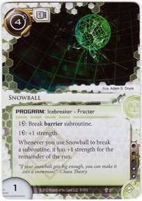 New Snowball Card