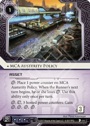 MCA Austerity Policy