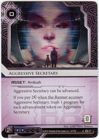 aggressive secretary netrunner
