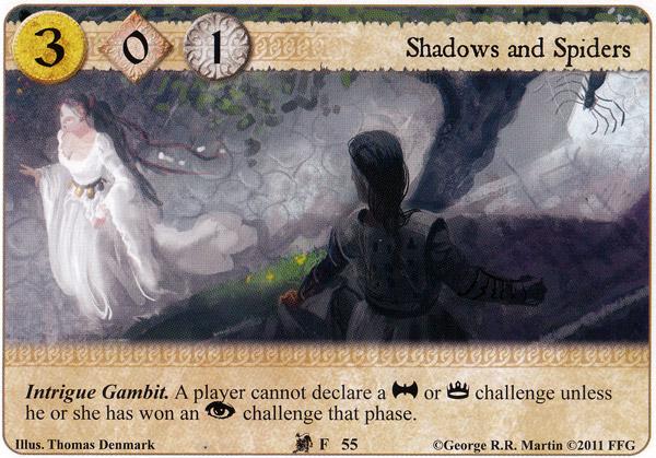 [mélée] Le deck sans Âme ou quand les stark combattent sous la bonne banniere (10e de mélée TOURS) Shadows-and-spiders-lotr