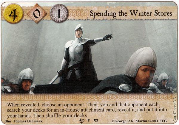 [mélée] Le deck sans Âme ou quand les stark combattent sous la bonne banniere (10e de mélée TOURS) Spending-the-winter-stores-qod