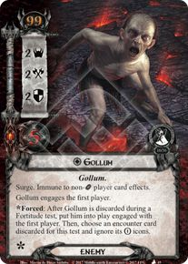 gollum the mountain of fire lord of the rings lcg lord of the