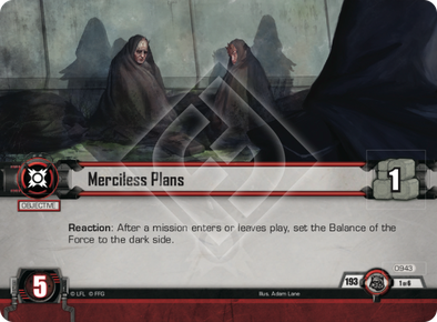 Merciless Plans - New Alliances - Star Wars LCG - Star Wars