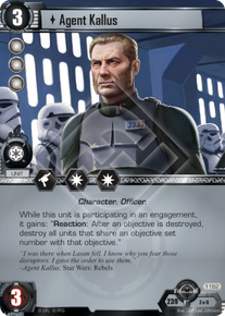Agent Kallus A Wretched Hive Star Wars Lcg Star Wars Card Spoilers Card Game Db Now personaly i still think i could have done better with the pose and detail in other parts but i am happy with his face expression. card game db