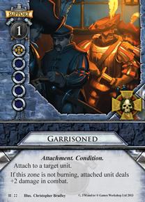 Garrisoned - Cataclysm - Warhammer: Invasion LCG