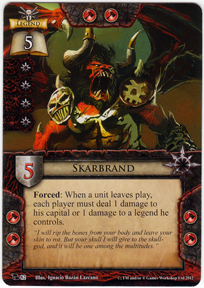 Skarbrand portent of doom warhammer invasion lcg for Portent warhammer