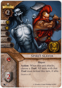 Spirit slayer portent of doom warhammer invasion lcg for Portent warhammer