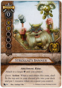 Strollaz 39 s banner portent of doom warhammer invasion for Portent of doom